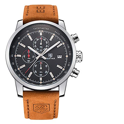 Reloj de pulsera de cuarzo de Benyar, estilo militar deportivo, reloj analógico con...