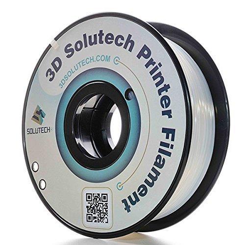 3D Solutech ST175CLPLA Natural Clear 1.75mm 3D Printer PLA Filament, Dimensional Accuracy +/- 0.03 mm, 2.2 LBS (1.0KG), Silver