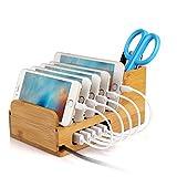 Upow Bambus Ständer universal multifunktionelle Ladestation und Organizer Docking Station...