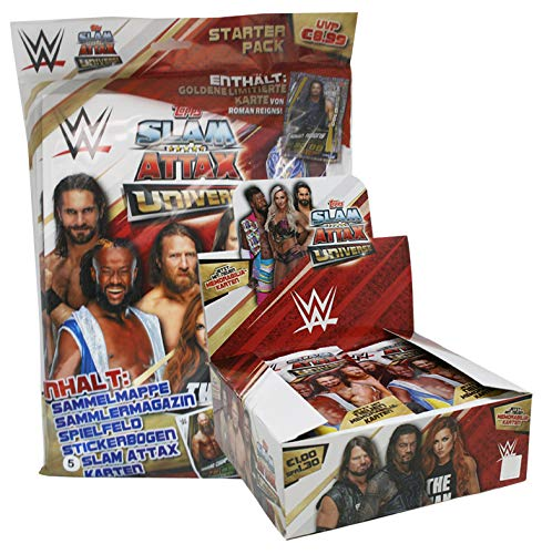 CAGO WWE Slam Attax Universe - 1 Starter + 1 Display (36 Booster)