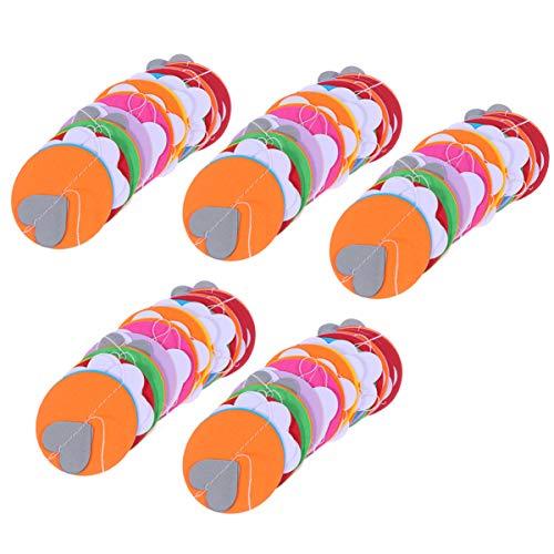 TOYANDONA 5pcs serpentins de fête papier de soie suspendus guirlande de fleurs pour la décoration de fête