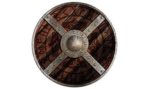Unbekannt Escudo Redondo Odin Escudo de Madera Pintado, Madera, Escudo Protector 73804-3