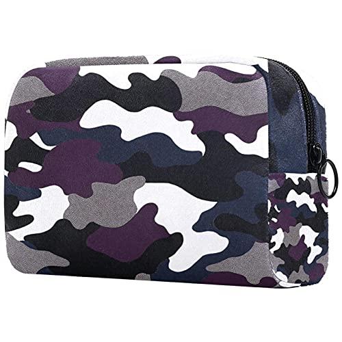Neceser de viaje, bolsa de viaje impermeable de alta calidad con fondo Cyberpunk con cremallera mejorada, 18,5 x 7,5 x 13 cm