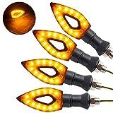 4pz Indicatori di Direzione Universali Moto LED Retrò Trasformare Segnale Luce Freccia di Luce 12V Trasformando Indicatore Luce Universale