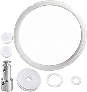 Universal Replacement Silicone Sealing Gaskets Float Valve Sealer Set for 5 or 6 Quart Pressure Cooker Models, Such as XL, YBD60-100, PPC780, PPC770 and PPC790