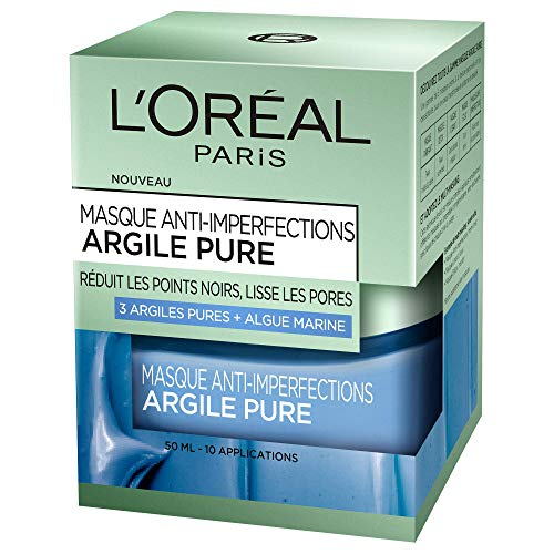 L'Oréal Paris Masque anti-imperfections argile pure - Le flacon de 50ml