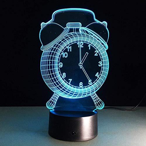 YWAWJ 3D-Illusion Nachtlichter Nachtlicht Nachttischlampe 7 Farben ändern Fernbedienung mit Timer Kids Nachtbeleuchtung Lampe for Kinderlampe als Geschenk-Ideen for Männer oder Kinder
