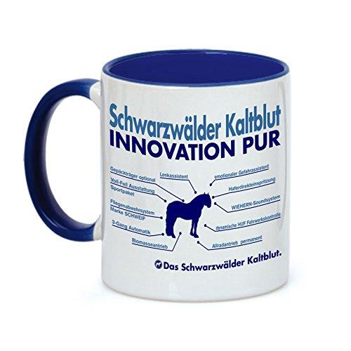 Tasse INNOVATION - SCHWARZWÄLDER KALTBLUT - Pferde Pferd Teileliste Pferd Kaffeebecher Siviwonder