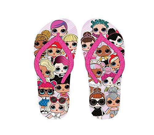 L.O.L Kinder Zehentrenner Flip Badeschuhe Sommerschuhe Sandale Schuhe LOL (30/31 EU)
