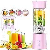 KEMEILIAN Yycj0315 380ml Mezcler Maker Fruit Blender Shaker Bottle 3 Style USB Recargable DIY Juicer para Viajes y Picnic Portátil (Color : White)