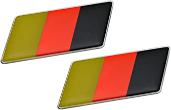 ERPART German Germany Flag Emblem Badge Nameplate Decal Rare Compatible with Porsche (Pack of 2)