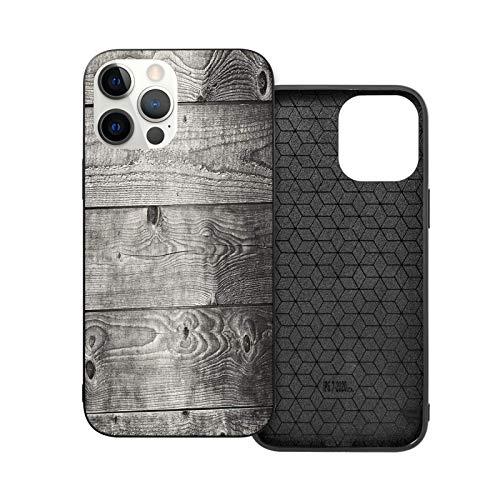 Compatible con iPhone 12 Mini 5.4 pulgadas, diseño de degradado antiguo, tablones de madera suave antideslizante a prueba de golpes