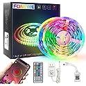 FONEWE 50ft RGB Color Changing LED Strip Lights