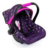 Bayer Design 67979AA, Silla de Coche Easy go, Accesorios, Asiento para bebé muñecos, púrpura, Rosado, Hada, Color Estampado