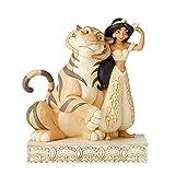 Figura de Jazmin y el tigre Raja de Aladín, Disney Traditions, Resina, Multicolor, Enesco