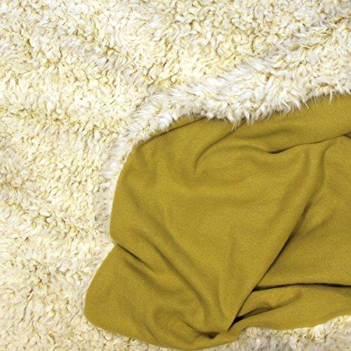 Woondeken 150 x 200cm slaapdeken knuffeldeken geel oker warm zacht gezellig