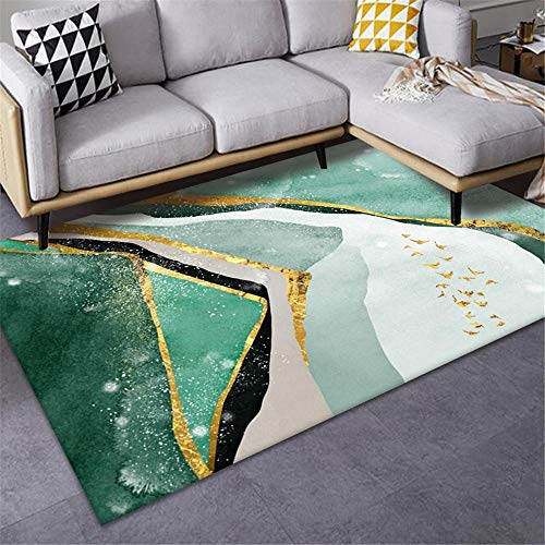 Jiaosa Carpets For Home green Carpet salon green abstract minimalist pattern anti-slip carpet durable Carpets For Living Room 160X200CM Large Rugs For Living Room 5ft 3''X6ft 6.7''