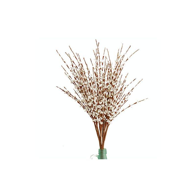 "silk flower arrangements misswarm 10 pieces 29.5"" long of jasmine artificial flower artificial flowers fake flower for wedding home office party hotel restaurant patio or yard decoration(white)"