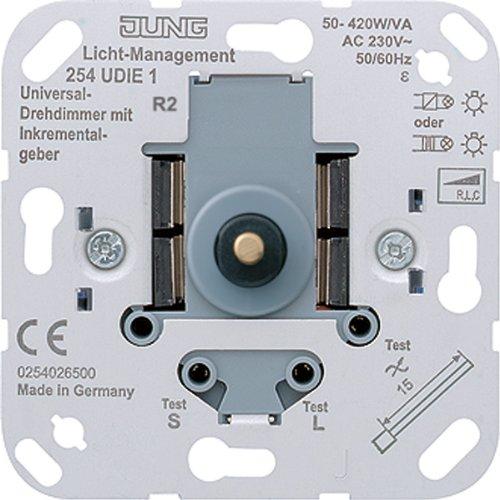 Jung 254UDIE1 Universal Drehdimmer mit Inkrementalgeber