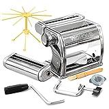 VeoHome Machine à pâtes Manuelle avec séchoir - Acier Inoxydable Outil...