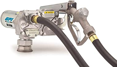 GPI 110000-81, M-1115-MU Fuel Transfer Pump, 12 GPM, 115-VAC, Manual Nozzle, 12' Hose, Spin Collar Mount