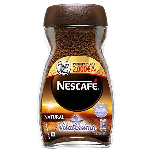 NESCAFÉ Café Vitalissimo Soluble Natural, Bote de cristal, Paquete de 3x200g de...