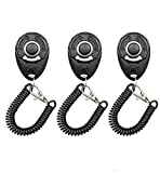 Diyife Dog Clicker, [New Version][3 PCS] Pet Training Clicker with Wrist Strap