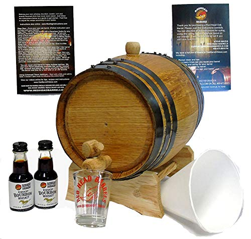 2 Liter charred American Oak whiskey Barrel Flavoring Kit w/Kentucky Bourbon Essence for making your own whiskey flavored alcohol