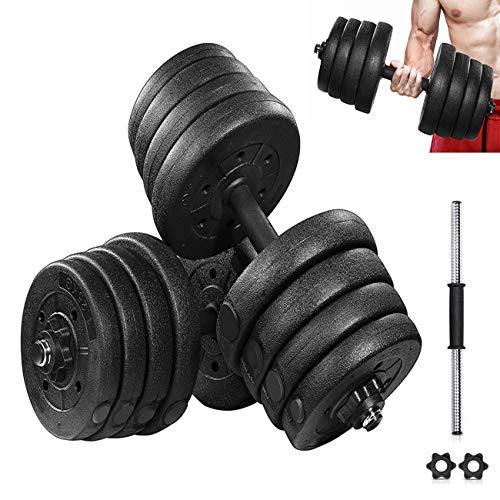 Juego de pesas profesionales ajustables 2 en 1 con conector, para hombres y mujeres 20 – 80 libras de mancuernas multifunción para el hogar, 10 kg (4,5 kg/par)