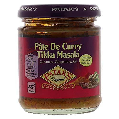 Patak's Pâte de Curry Tikka Masala - Idéale pour marinades et sauce curry - 165g