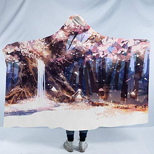 RGBVVM Manta con Capucha Chica de árbol Abstracto Manta de sofá Suave y esponjosa, Manta de Felpa Ligera, cálida, cómoda y Duradera, Adecuada para sillón de sofá, Picnic y Camping 150x200 cm