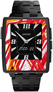 Slickwraps Wraps/Skins for Pebble Steel Smartwatch for iPhone and Android -  Retail Packaging - Red Halen