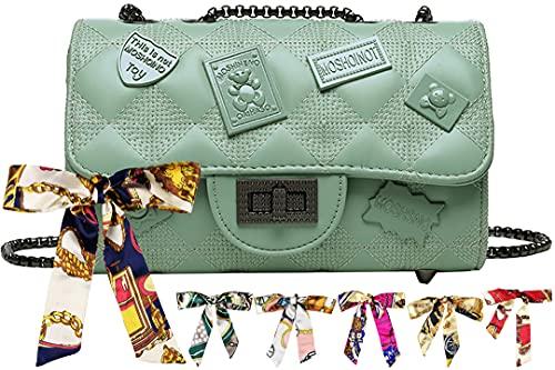 Nombre Personalizado Bolsos de Hombro Convertibles con Bolsos de Cuero Bolso Casual y (Color : Green, Size : One Size)