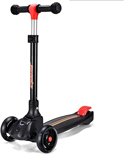 punto de venta YL Scooter de Seguridad para Niños de de de 3 a 14 años. Flash de Cuatro Ruedas para Niños con un Solo botón, multifunción 3 en 1 Scooter,negro  ventas calientes