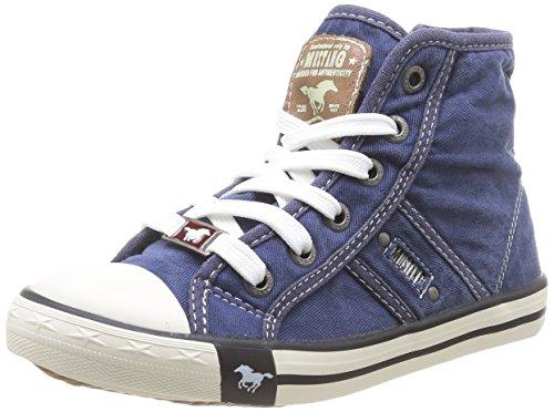 Mustang - 5803-503-841, Zapatillas Altas Unisex Niños, Azul (Jeansblau 841), 32 Eu