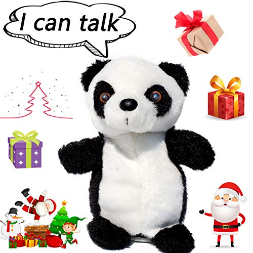 SINYUM Upgrade Newest Talking Panda - Repeats What You Say with Cute Voice - Electronic Pet Talking Plush Buddy Panda for Child Kids Gift Party Toys …