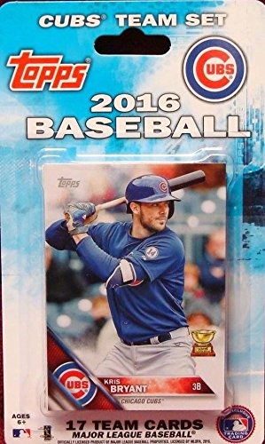 Chicago Cubs 2016 Topps Factory Sealed Limited Edition 17 Card Team Set with Kris Bryant Kyle Schwarber Plus