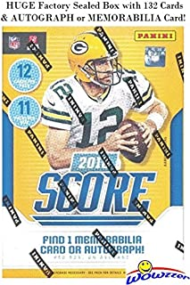 2018 Score NFL Football EXCLUSIVE Factory Sealed Blaster Box with 132 Cards & AUTOGRAPH or MEMORABILIA Card! Look for Rookies & Auto's of Baker Mayfield, Saquon Barkley, Sam Donald & More! WOWZZER!