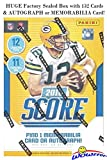 2018 Score NFL Football EXCLUSIVE Factory Sealed Blaster Box with 132 Cards & AUTOGRAPH or MEMORABILIA Card! Look for Rookies & Auto's of Baker Mayfield, Saq... rookie card picture