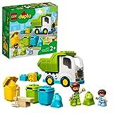 LEGO 10945 Duplo Town Camión de Residuos y Reciclaje, Carro de Basura, Juguete Educativo +2 años, Juegos para Bebés