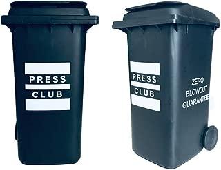 The Press Club   Miniature Trash Bin   2-Pack   Desktop Storage Bin Organizer for Cotton Swabs Pens & Pencils