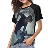 Ke-ith Ur-ban Baseball Tee Shirts Women Short Sleeve Top T Shirt Black