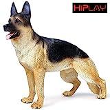 HiPlay ジャーマン シェパード ドッグ リアル フィギュア 犬 ドッグ モデル『20cm級 可愛い 還元度追求』 大型 動物 模型 AN003