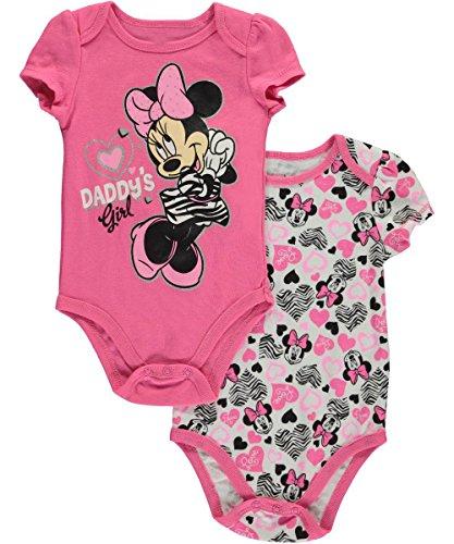 Minnie Mouse Baby Girls Daddy's Girl Body de 2 piezas - rosa / multi, 6 - 9 meses