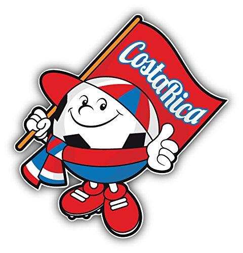 Cartoon Costa Rica Flag Soccer Ball Mascot Vinyl Sticker Pegatina Graphic Art Decal