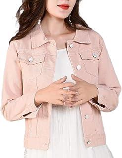 Coolhi Womens Slim Equipada botón Abajo Chaqueta Denim Moda de Verano