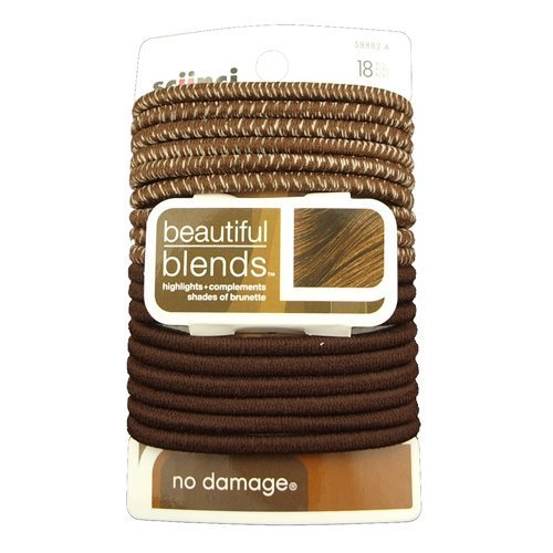 Scunci Elastics Brunette Color Match 18 Pieces 4mm