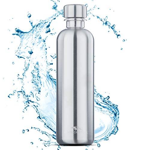 MATE OF STEEL 0.75L Edelstahl Flasche Kompatibel mit Sodastream Crystal & Easy – Spülmaschinenfest, Kohlensäure geeignet | 750ml Trinkflasche aus Metall | Soda Flaschen | Ersatzflaschen