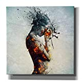 Cortesi Home CH-CA181823 'Deliberation' By Mario Sanchez Nevada Gisele Canvas Wall Art, 18' X 18',,Blue