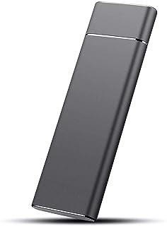 2 TB SSD extern hårddisk, bärbar hårddisk, USB 3.1 / Type-C tunn extern hårddisk datalagring, kompatibel med PC, bärbar da...